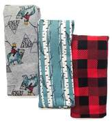 Rosie Pope Baby Baby Boy's Three-Pack Printed Cotton Blankets