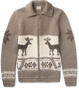 Faherty Fair Isle Wool And Alpaca-Blend Cardigan
