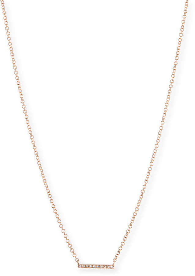 Ef Collection Mini Diamond Bar Pendant Necklace