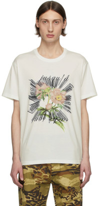 Givenchy White Floral Embroidered T-Shirt