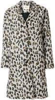 Bellerose leopard print single breasted coat