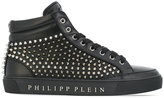 Philipp Plein Fast Car hi-top sneakers - men - Calf Leather/Leather/metal/rubber - 40