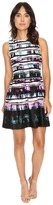 Vince Camuto Printed Sleeveless Fit and Flare