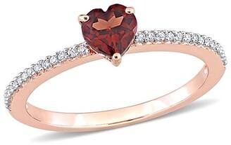 Rina Limor Fine Jewelry 10K Rose Gold 0.61 Ct. Tw. Diamond & Garnet Ring