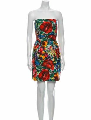 Dolce & Gabbana Printed Mini Dress White