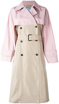 Prada bicolour trench coat