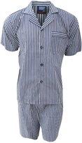 Universal Textiles Mens Patterned Short Sleeve Shirt And Shorts Pyjama/Nightwear Set