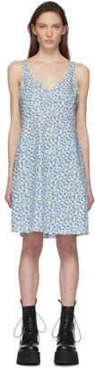 R 13 Blue Floral Slip Dress