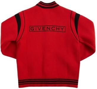 Givenchy Logo Cotton & Cashmere Bomber Jacket