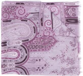 Etro Paisley-Print Fringed Scarf