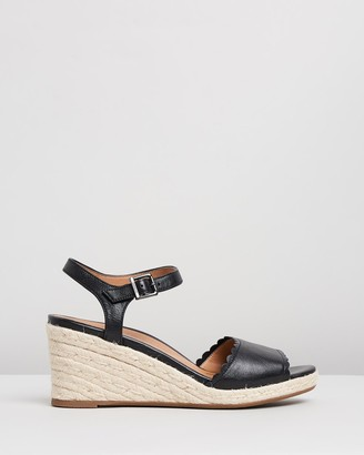 Vionic Women's Black Sandals - Stephany Wedges - Size One Size, 5 at The Iconic