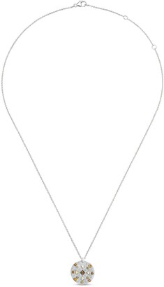 De Beers 18kt white gold Talisman Babylon diamond medal necklace
