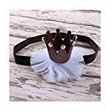 Fullkang Girl Cute Hairband Baby Elastic Flower Crown Headband Head Accessories (Coffee)