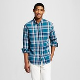 Mossimo Men's Plaid Button Down Shirt Teal