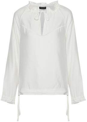 Rag & Bone Bennett Gathered Silk-satin Blouse