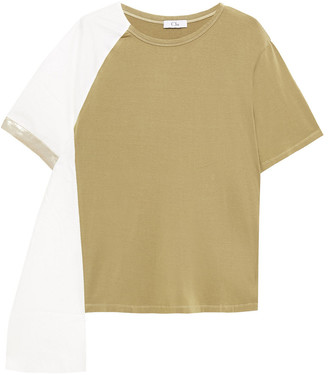 Clu Two-tone Tencel-blend Jersey Top