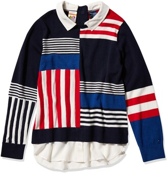 Tommy Hilfiger Women's Adaptive Striped Sweater with Magnetic Buttons