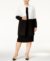 Kasper Plus Size Colorblocked Topper Jacket