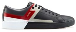 HUGO BOSS Low-top trainers with colour-block print
