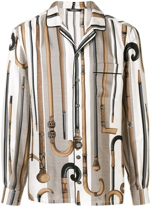 Dolce & Gabbana walking stick print shirt