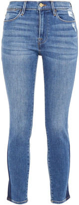 Frame Le High Skinny Distressed High-rise Skinny Jeans