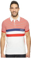 U.S. Polo Assn. Short Sleeve Color Blocked Slim Fit Pique Polo Shirt