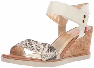 Marc Joseph New York Women's Leather Made in Brazil Dyckman St. Sandal Wedge