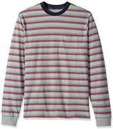 Brixton Men's Pilsen Tailored Fit Long Sleeve Pocket Knit Shirt