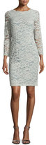 Erin Fetherston Long-Sleeve Lace Sheath Dress, Sage