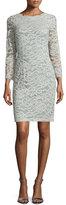 Erin Fetherston Long-Sleeve Lace Sheath Dress, Sage