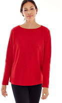 J. Jill Pure Jill Sueded-Cotton Boat-Neck Top