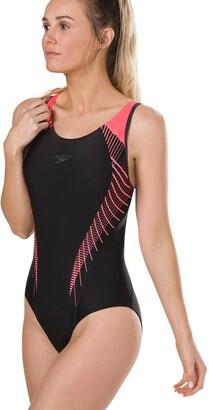 Speedo Fit Laneback Sun Protection Pool Swimsuit