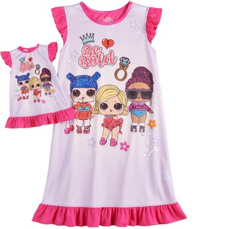 Licensed Character Girls 6-10 L.O.L. Surprise! Dorm Nightgown & Matching Doll Gown
