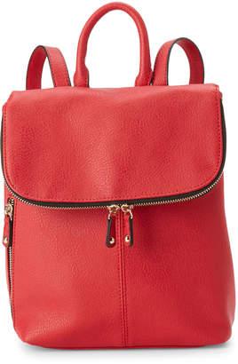 Steve Madden Red London Flap Backpack
