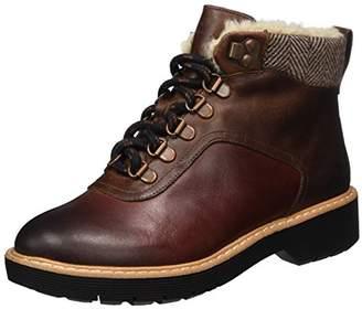 Clarks Women's Witcombe Rock Boots, Brown Dark Tan Lea