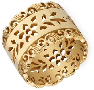Gucci Icon Blooms 18K Yellow Gold Ring