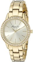 Kenneth Cole New York Women's 10014615 Classic Analog Display Japanese Quartz Gold Watch