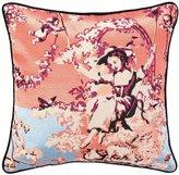 Nanette Lepore Porcelain Embroidered Pillow
