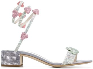 Rene Caovilla Crystal-Embellished 40mm Sandals