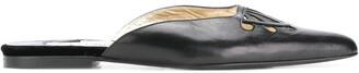 Dolce & Gabbana Pre Owned Cutout Flat Mules
