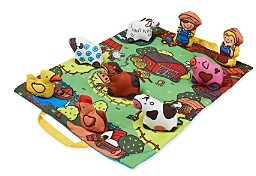 Melissa & Doug Take-Along Farm Play Mat - Ages 6 Months+