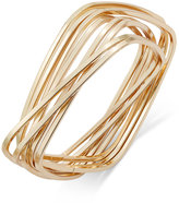 Thalia Sodi Gold-Tone Interlocking Rectangles Bangle Bracelet, Only at Macy's