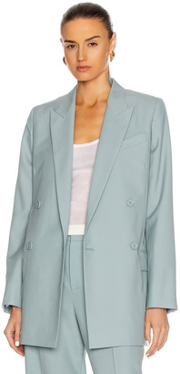 Givenchy Masculine Double Breasted Jacket in Blue | FWRD