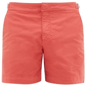 Orlebar Brown Bulldog Cotton-blend Swim Shorts - Mens - Red
