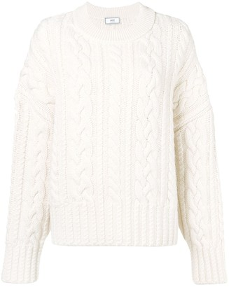 Ami crew neck Cable Knit Oversize Sweater
