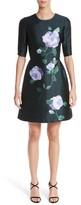 Lela Rose Women's Floral Print Wool & Silk Dress