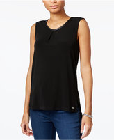 Armani Exchange Keyhole-Back Tank Top