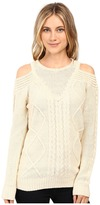 Brigitte Bailey French Cut Cable Knit Sweater