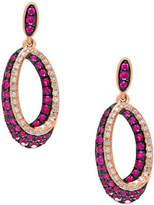 Effy 14K Rose Gold Ruby Shadow Earrings with 0.22 TCW Diamonds