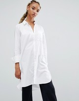Longline Button Shirts For Women - ShopStyle